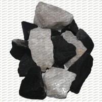 МИКС Белый кварц+Долерит, колотый (20кг)