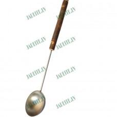 Nerūsējošā tērauda pirts kausiņš ar bērza koka rokturi (x1)