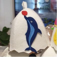 """Pirts cepure bērniem """"Delfīns"""", balta (x1)"""