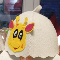 "Pirts cepure bērniem ""Žirafe"", balta (x1)"