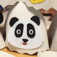 """Pirts cepure bērniem """"Panda"""", balta (x1)"""