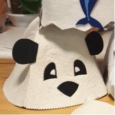 """Pirts cepure bērniem """"Panda ar ausīm"""", balta (x1)"""