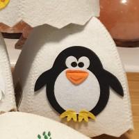"""Pirts cepure bērniem """"Pingvīns"""", balta (x1)"""