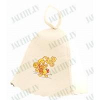 """Pirts cepure """"Zelta zivtiņa"""", balta (x1)"""