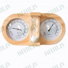 3in1 Higrometrs - Termometrs - smilšu pulkstenis